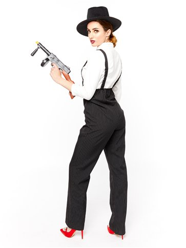 Gangster Lady - Adult Costume back