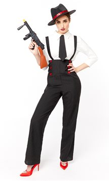 Gangster Lady - Adult Costume