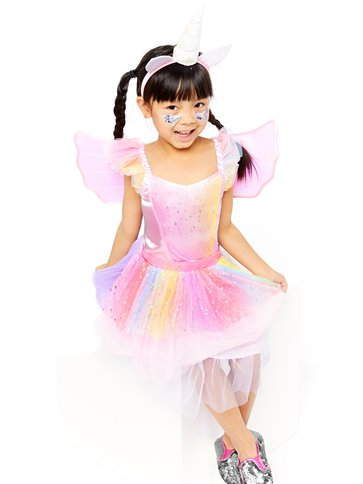 Mythical Unicorn Dress - Toddler & Child Costume back