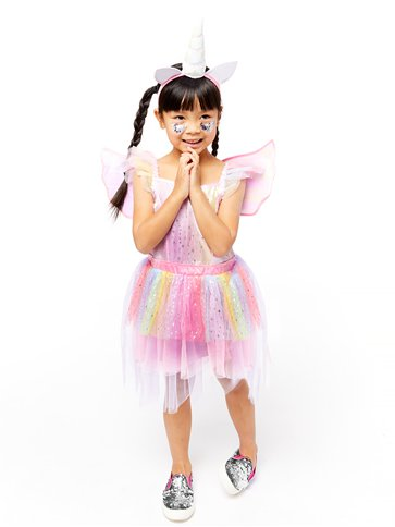 Mythical Unicorn Dress - Toddler & Child Costume left