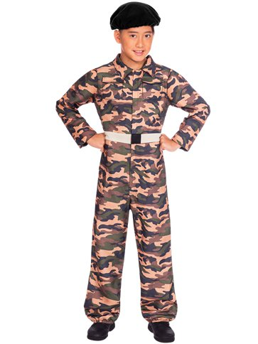 Camo  Soldier - Child Costume front