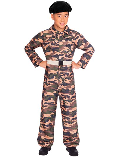 Camo  Soldier - Child Costume