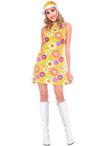 60s Flower Power - Adult Costume front