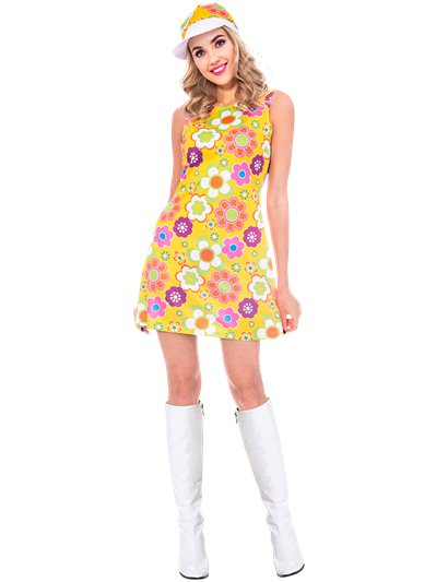 60s Flower Power - Adult Costume