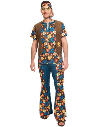 60s Groovy Hippie - Adult Costume front