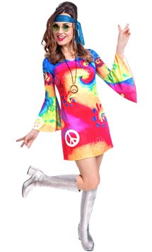 60s Free Spirit - Adult Costume