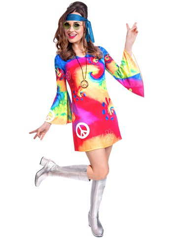 60s Free Spirit - Adult Costume front