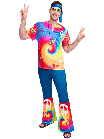 60s Free Spirit Hippie - Adult Costume front
