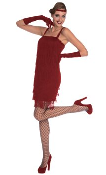 Red Flapper - Adult Costume