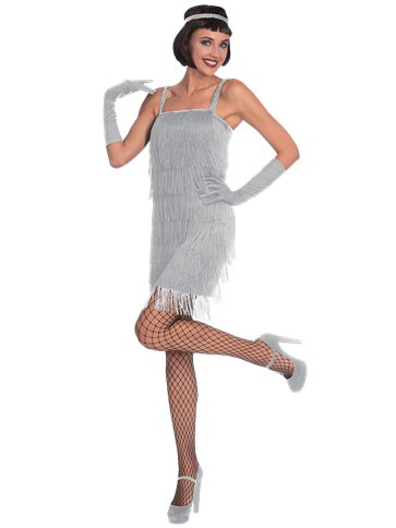 Silver Flapper - Adult Costume front