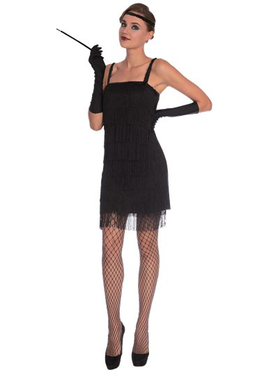 Black Flapper - Adult Costume