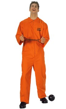 Prisoner Overalls - Adult Costume