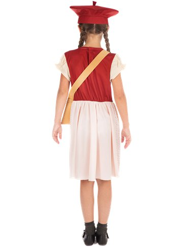 Evacuee Schoolgirl - Child Costume back