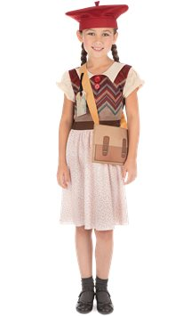 Evacuee Schoolgirl - Child Costume