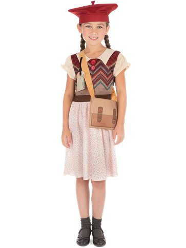 Evacuee Schoolgirl - Child Costume front