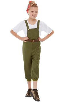 WW2 Little Land Girl - Child Costume