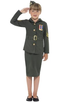 WW2 Army Girl - Child Costume