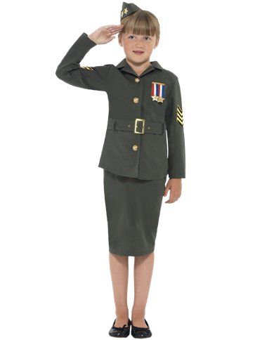 WW2 Army Girl - Child Costume front