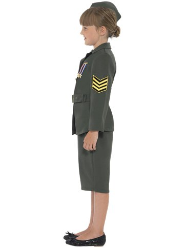 WW2 Army Girl - Child Costume left