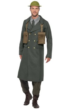 WW2 British Office Trench Coat - Adult Costume