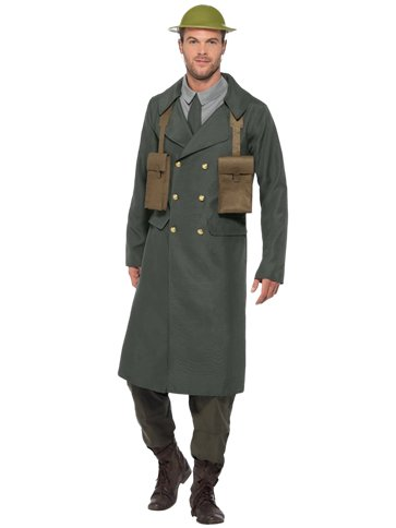 WW2 British Office Trench Coat - Adult Costume front