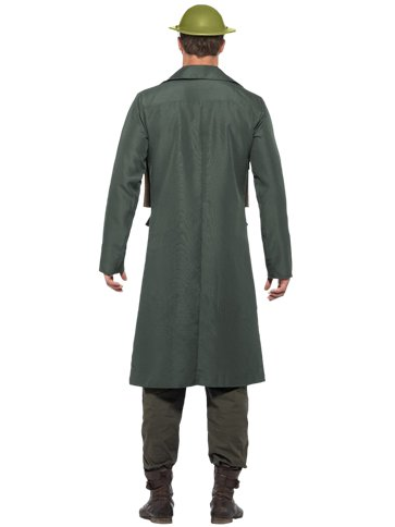 WW2 British Office Trench Coat - Adult Costume left