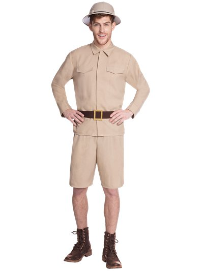 Safari Man - Adult Costume