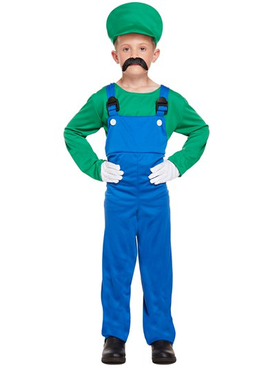 Green Super Plumber - Child Costume