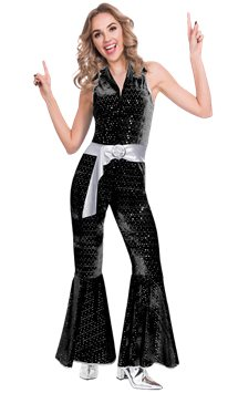 Disco Diva Jumpsuit - Adult Costume