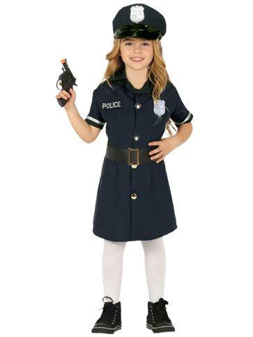 Police Girl - Child Costume front