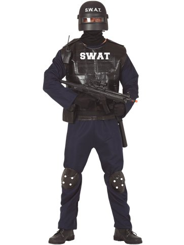 SWAT - Adult Costume front