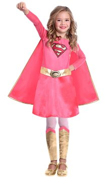 Supergirl Pink - Child Costume