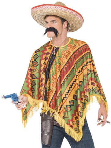 Mexican Poncho - Adult Costume front