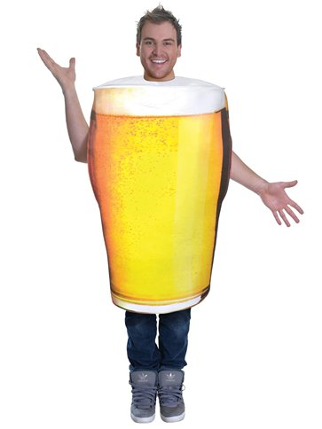 Pint of Beer - Adult Costume front