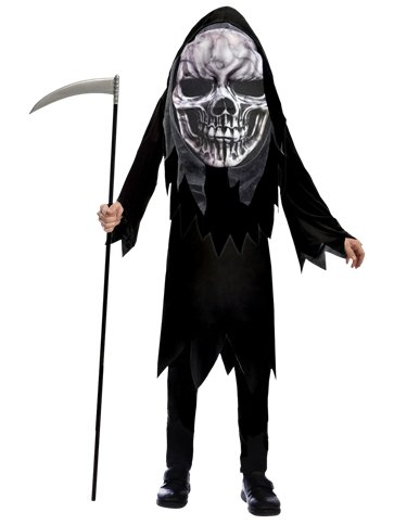 Grim Reaper Big Head - Child Costume front