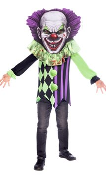 Scary Clown Big Head - Child Costume
