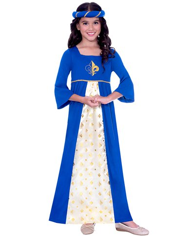 Tudor Princess Blue - Child Costume front