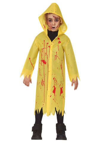 Bloody Yellow Raincoat - Child Costume front