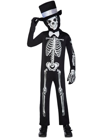 Skeleton Suit - Child Costume front