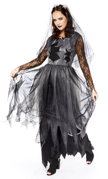 Black Corpse Bride - Adult Costume