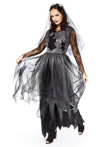 Black Corpse Bride - Adult Costume front