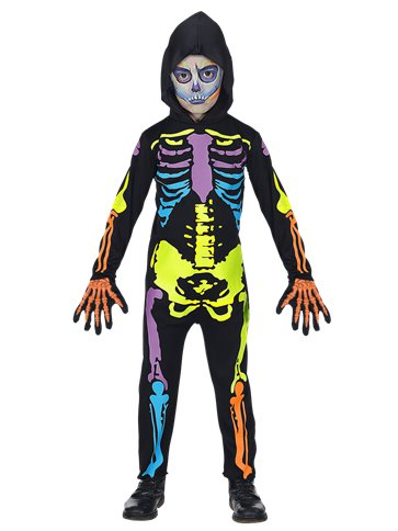 Neon Skeleton - Child Costume front