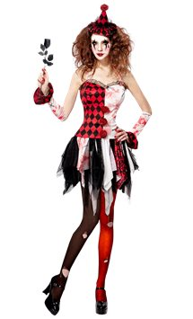 Evil Harlequin - Adult Costume