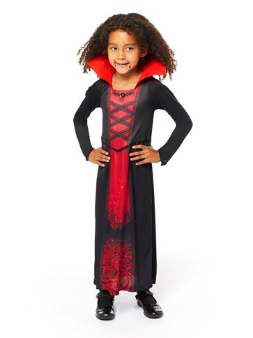 Recycled Rose Vampiress - Child Costume front