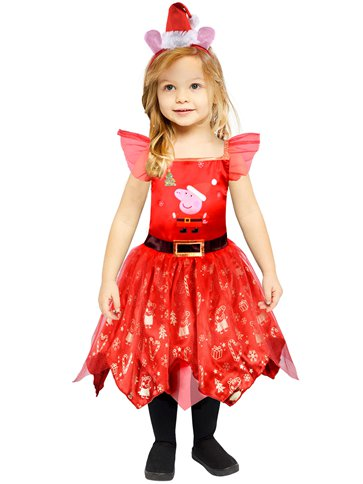 Peppa Pig Christmas Dress - Toddler & Child Costume front