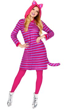 Cheshire Cat Onesie Dress - Adult Costume