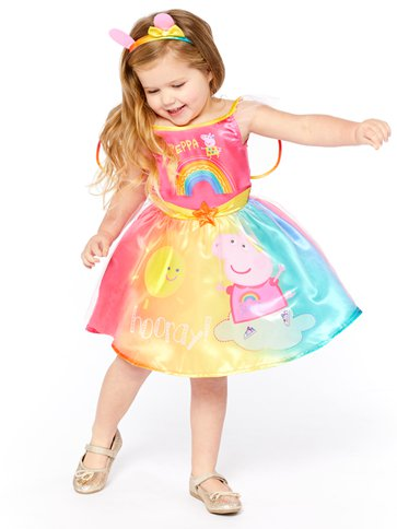 Peppa Pig Rainbow Fairy - Toddler & Child Costume front