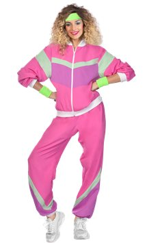 Pink 80s Shell Suit - Adult Costume