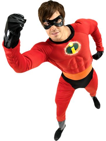 Mr Incredible Muscle Chest - Adult Costume front
