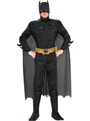 Batman Dark Knight Deluxe Muscle Chest - Adult Costume front